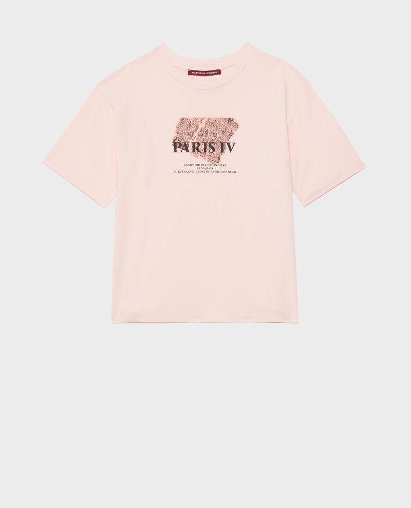 T-Shirt aus Baumwolle mit kurzen Ärmeln Seashell pink Mariette