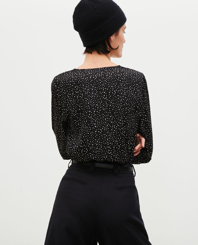 Langärmliges gemustertes Top  Print constellation black Mignon