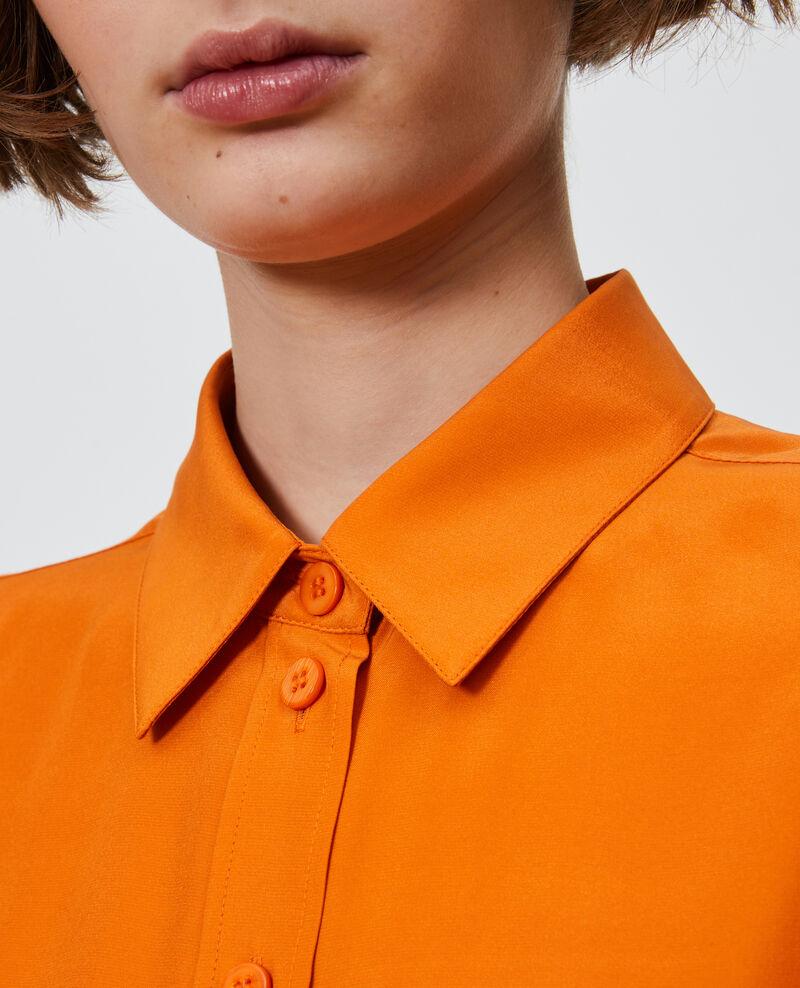 SIBYLLE - Hemdbluse aus Seide Harvest pumpkin Noriges