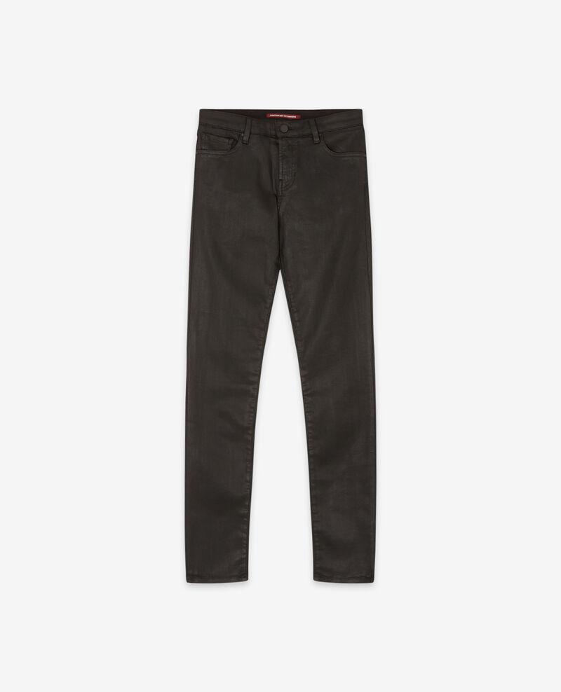 Beschichtete Skinny-Jeans Noir Didi
