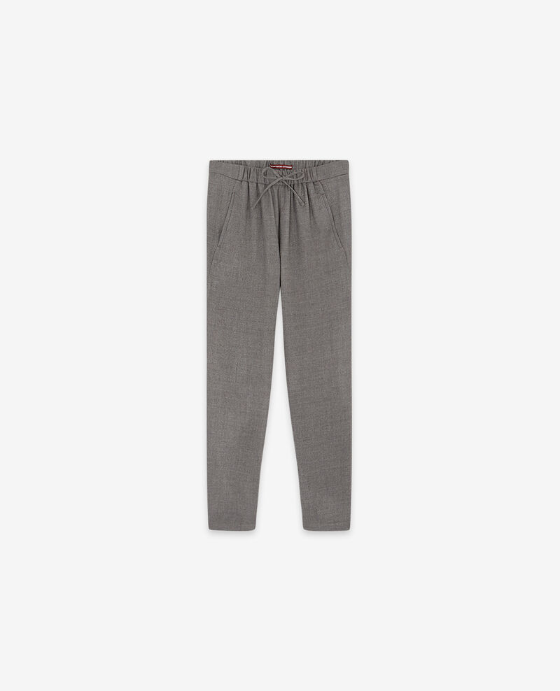 Hose aus Wolle Light grey Dalray