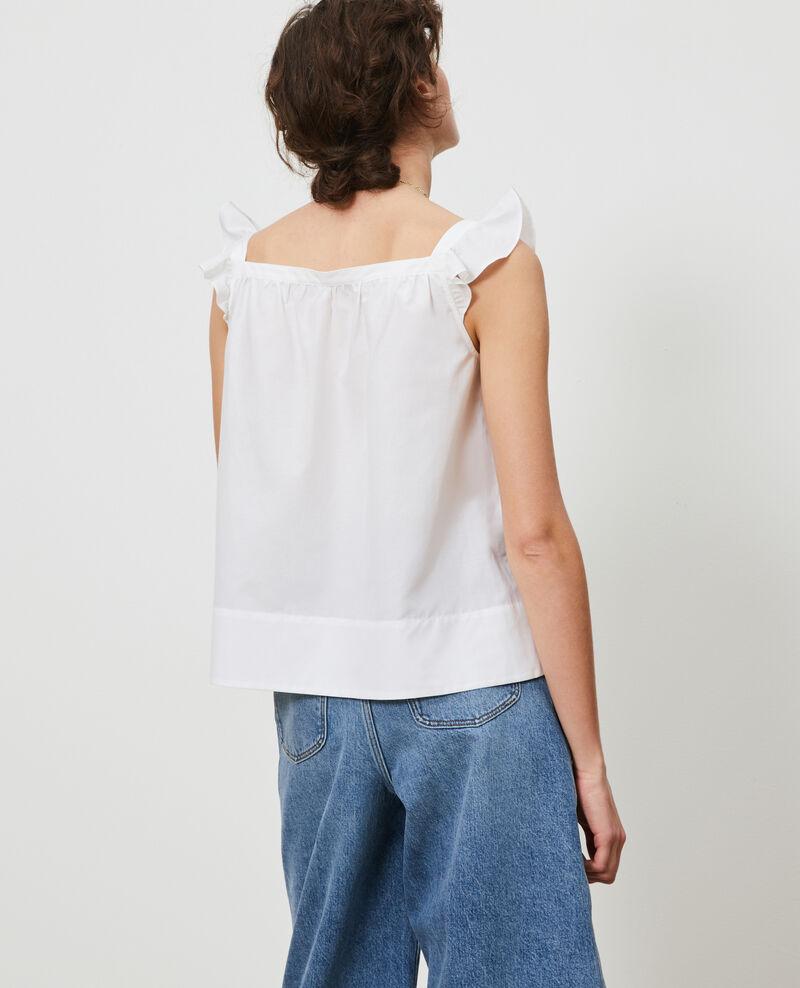 Trägertop aus Baumwolle und Seide Brilliant white Nymphie