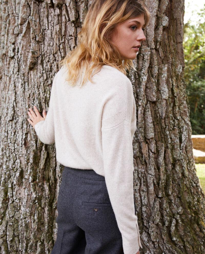 Pullover mit Knöpfen an den Ärmeln 100 % Kaschmir Buttercream Jypie