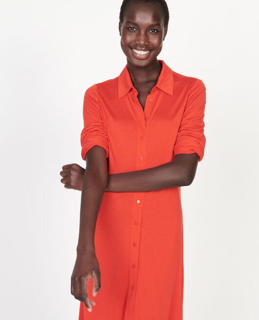 Hemdkleid aus Seidenjersey FIERY RED