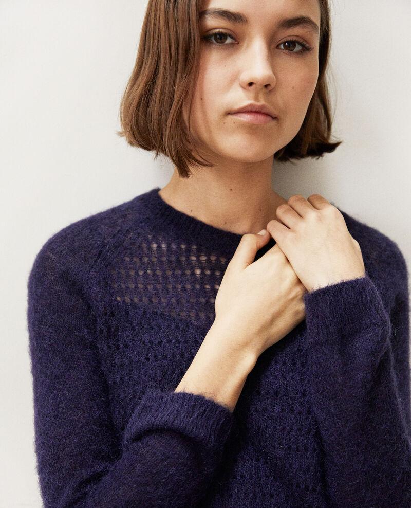 Pullover aus Zierstrick  Bleu marine Iceo