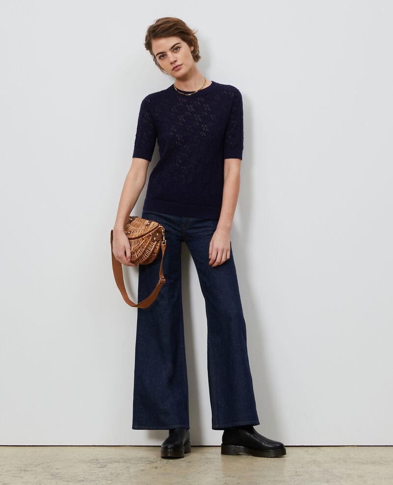 Pullover aus Baumwolle und Leinen Maritime blue Lagos