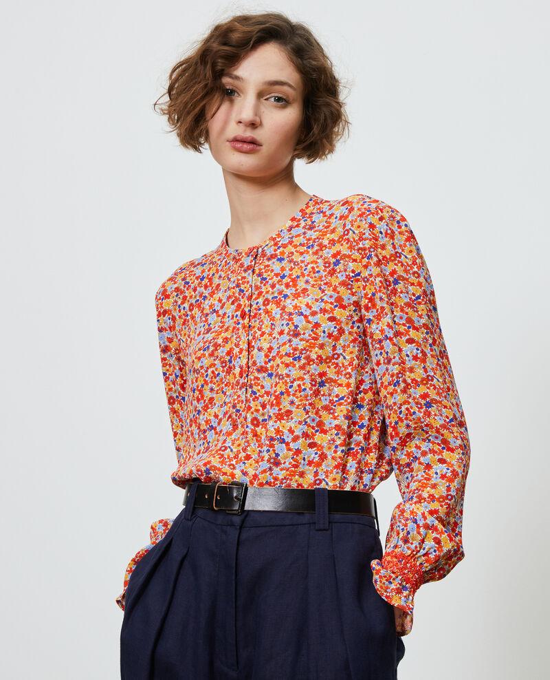 Bluse mit Blumenmuster Garden royalblue Ninu