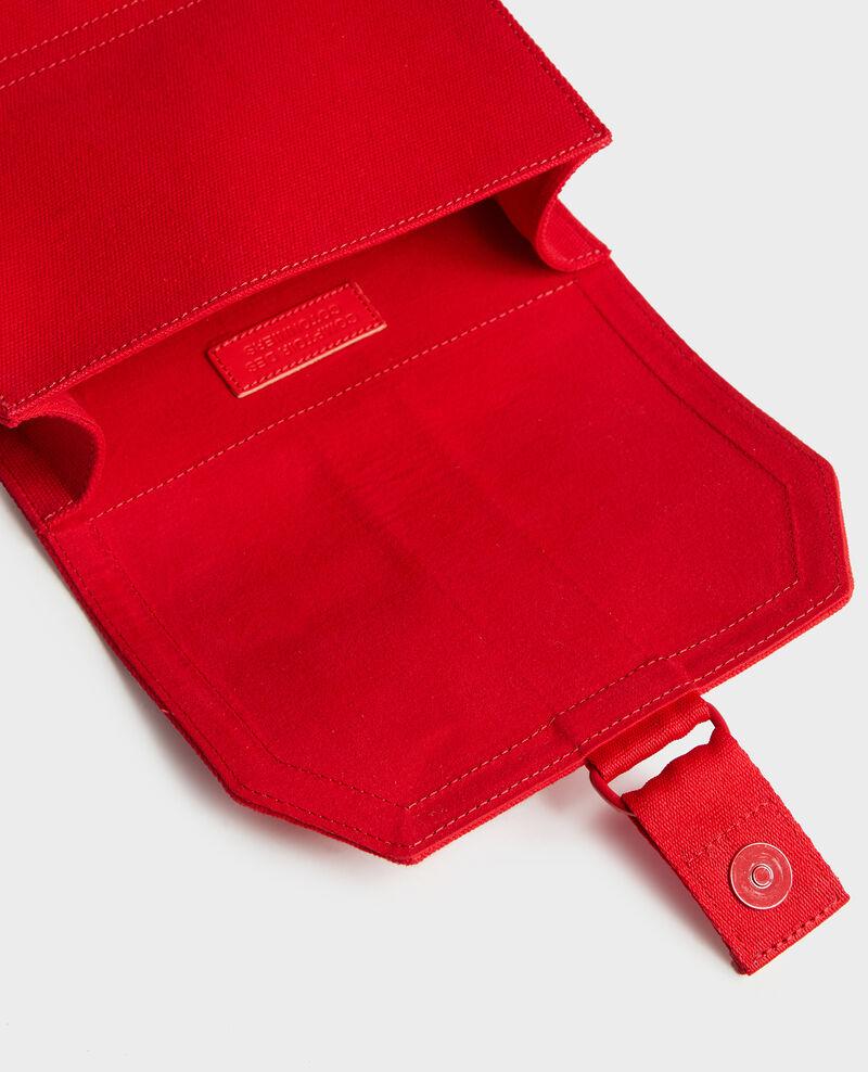 Kleine Tasche aus Baumwolle Fiery red Litterature