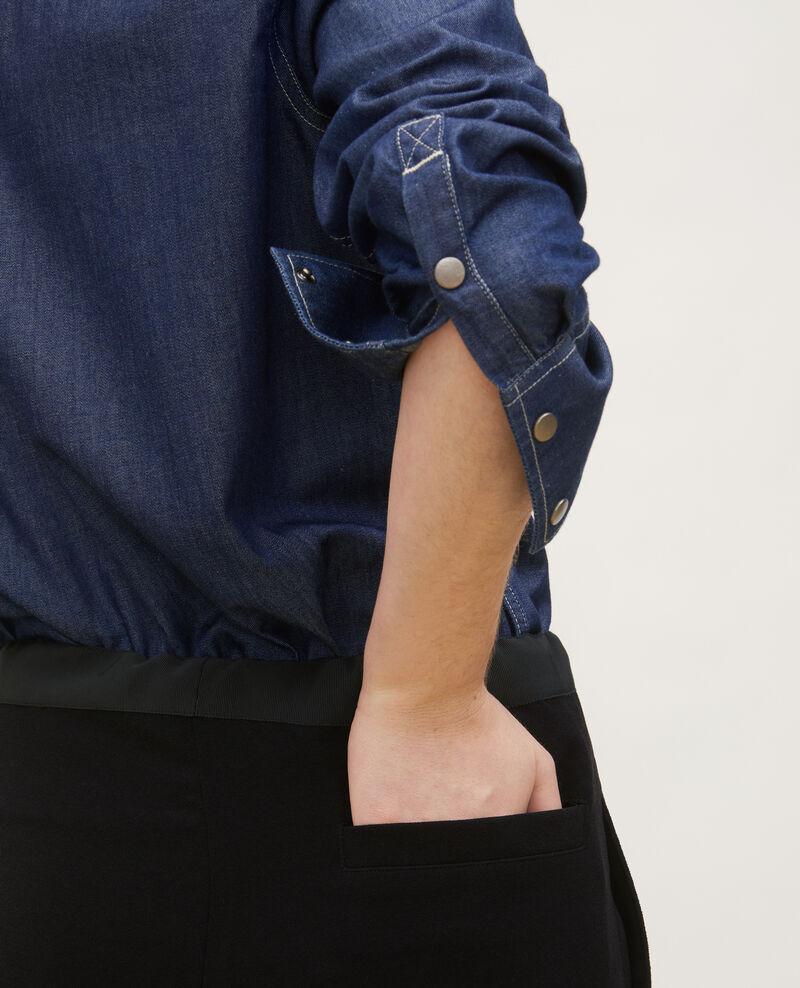 Jeanshemd mit asymmetrischen Taschen Denim brut Ladigne