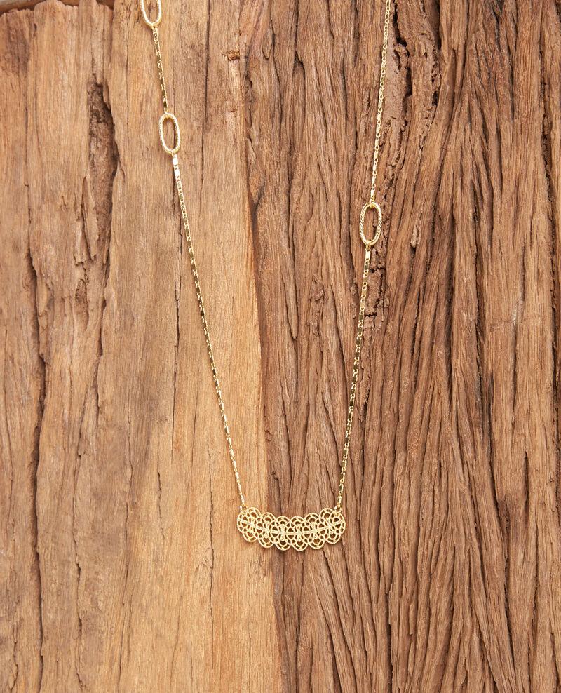 Lange Modeschmuckkette Gold Firmament