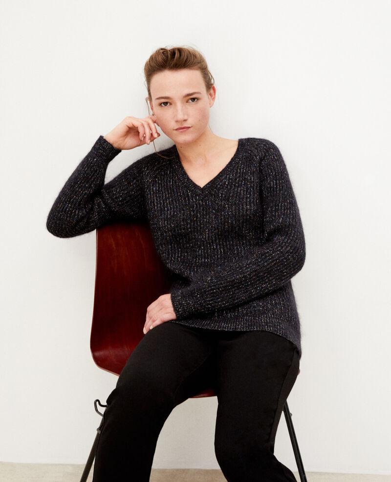 Pullover mit Mohair und Lurex Schwarz Gadeaux