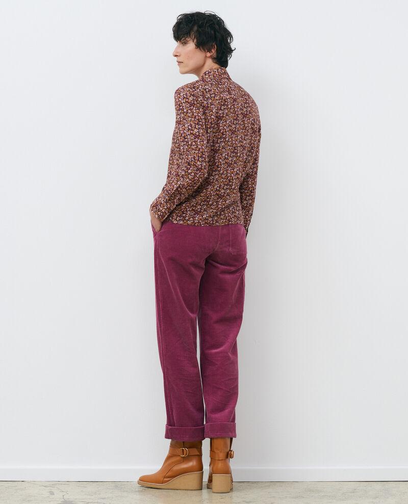 SIBYLLE - Langärmliges Seidenhemd Liberty cabernet Misabethou