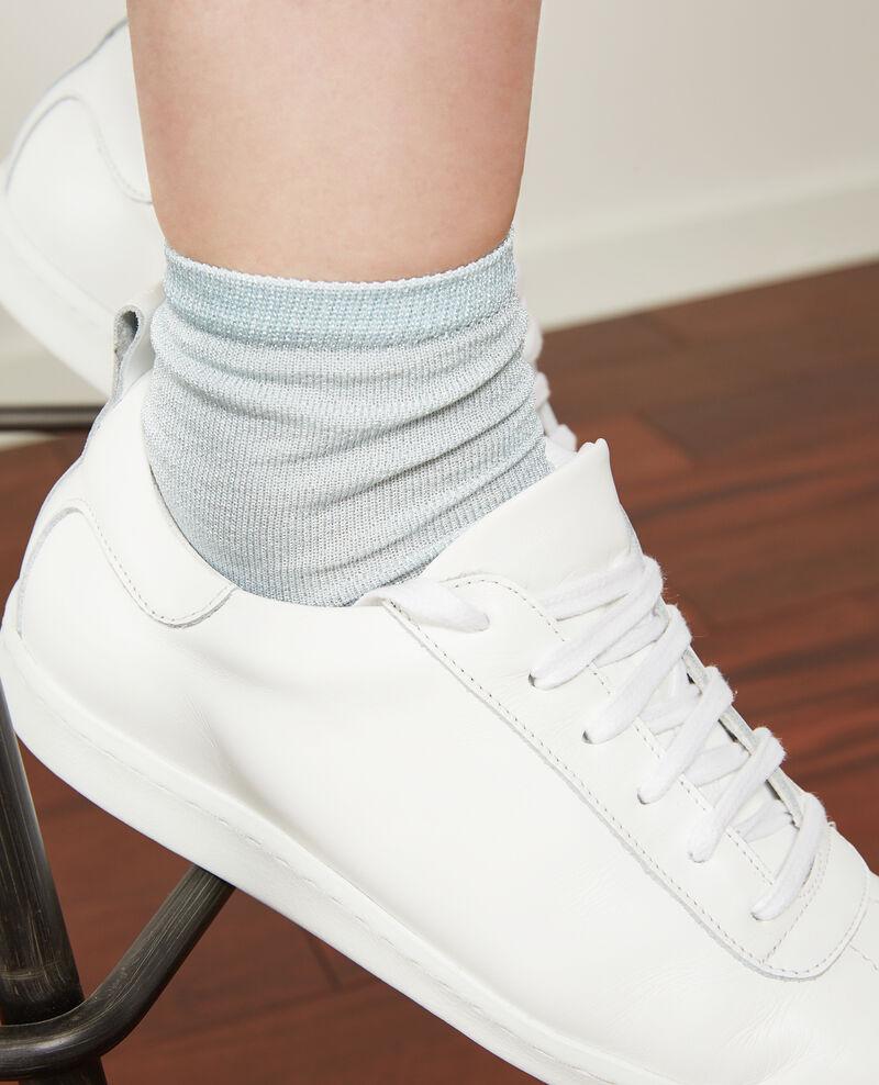 Schimmernde Socken Ice blue Daussette