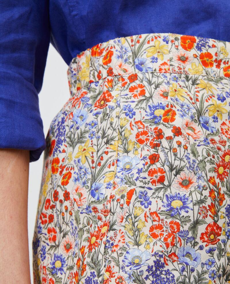 Gemusterte Shorts mit hoher Taille Prairie gardenia Nassy