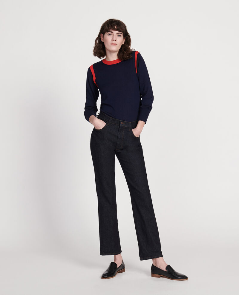SLIM STRAIGHT - Gerade Jeans aus unbehandeltem Denim Denim rinse Linnea