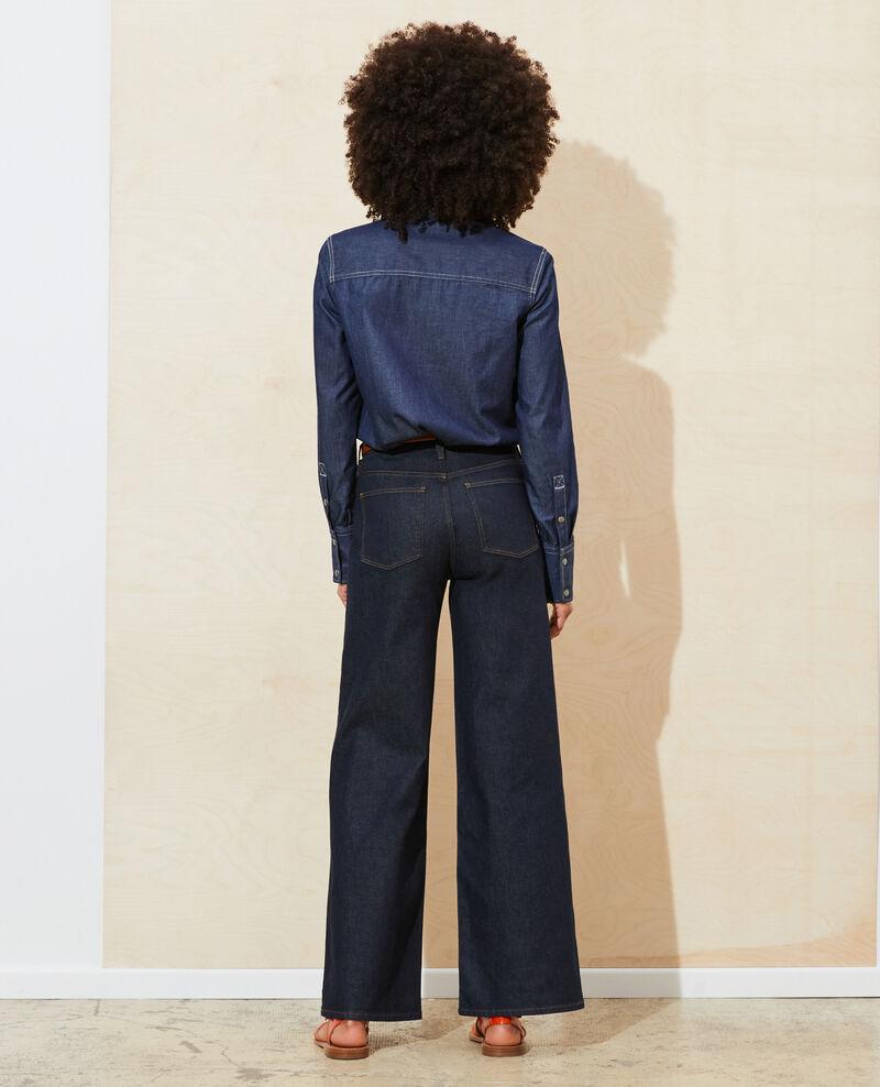 FLARE - Flare-Jeans mit hoher Taille Denim rinse Neuflizo