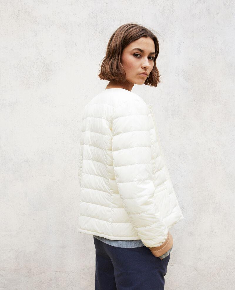 Wendebare Jacke Mademoiselle Plume Blanc Gallopo