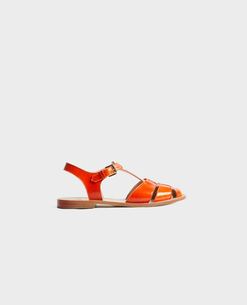 Sandalen aus Lackleder Spicy orange Lapiaz