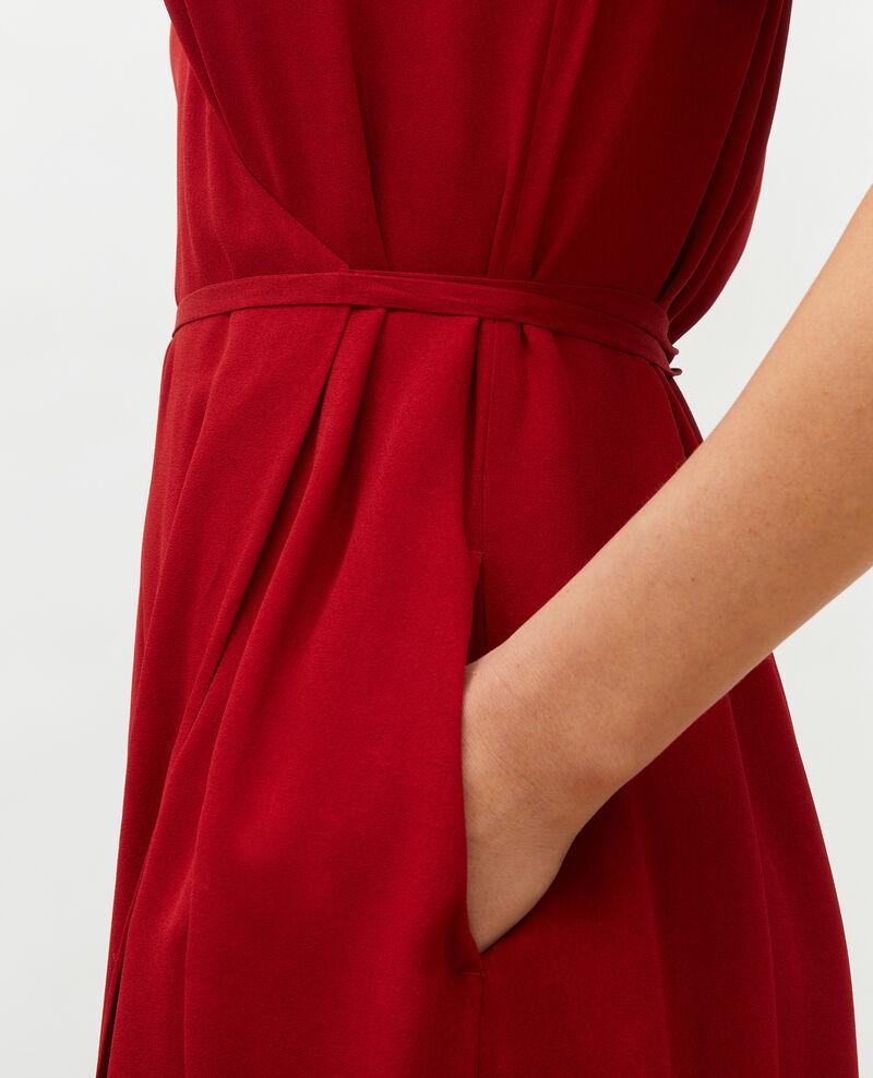 Langes Wickelkleid aus Viskose Royale red Meymac