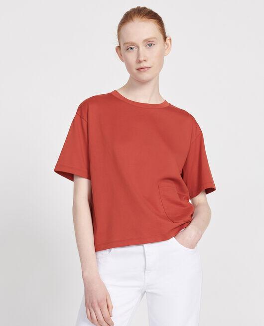 Boxy T-Shirt aus merzerisierter Baumwolle KETCHUP