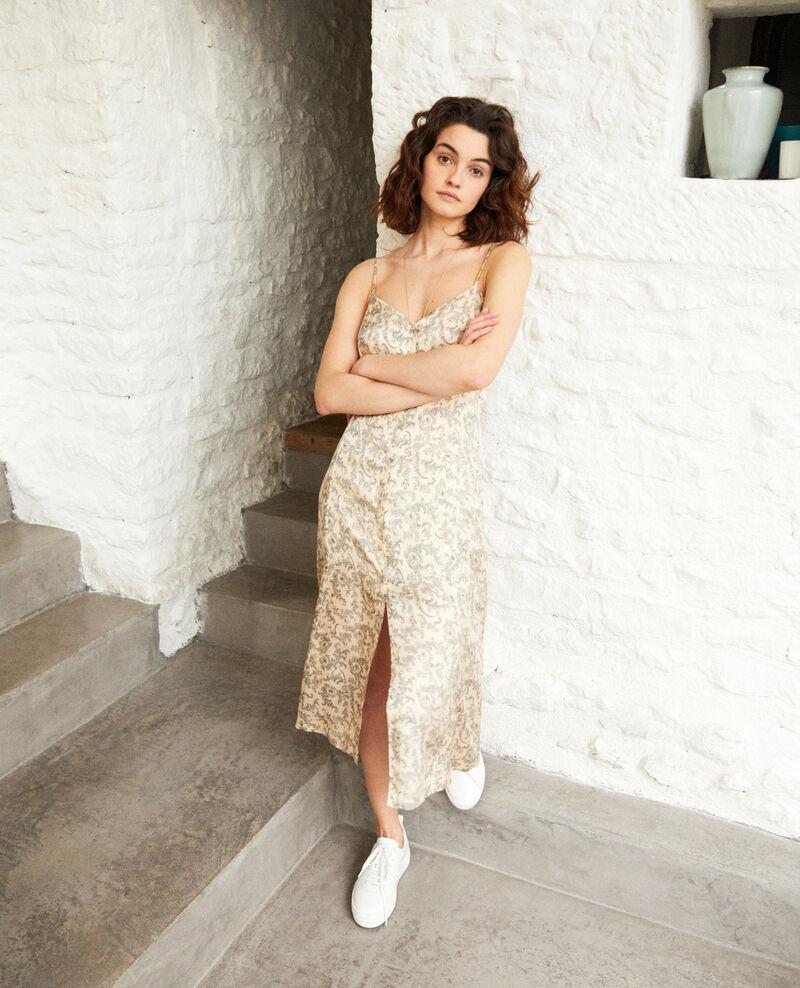 Kleid mit Seide Bandana light beige Ibriel