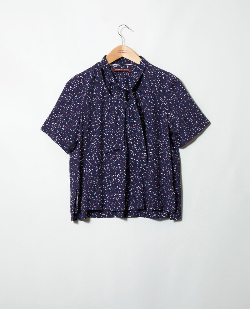 Bluse mit abnehmbarem Band Confetti ink navy Ipexo