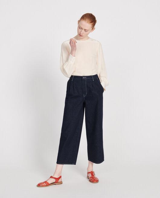 Wide Leg Cropped Jeans Brut DENIM RINSE