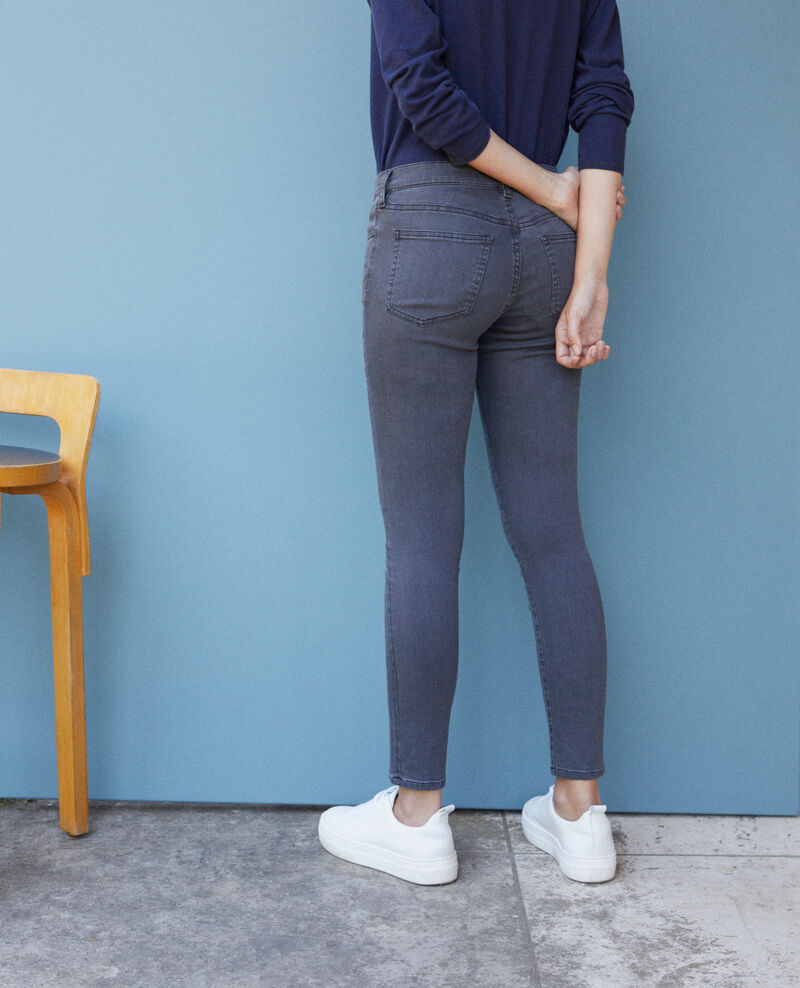Skinny-Jeans mit 7/8-Cropped-Länge Grau Griselda