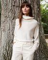 Pullover mit Stehkragen aus Kaschmir Buttercream Jinette