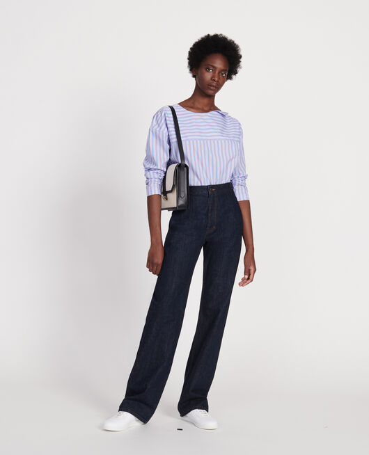 Gestreifte Oversize Bluse POPELINE STRIPES