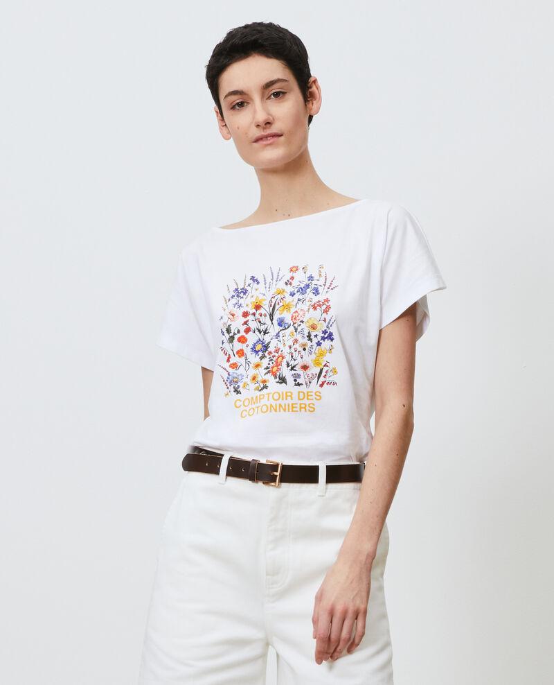 T-Shirt aus Baumwolle mit kurzen Ärmeln Brilliant white Marcelin