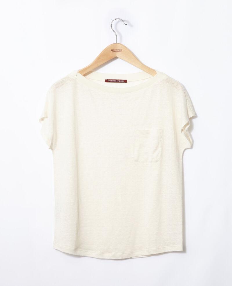 T-Shirt mit Tasche Weiß Granolita