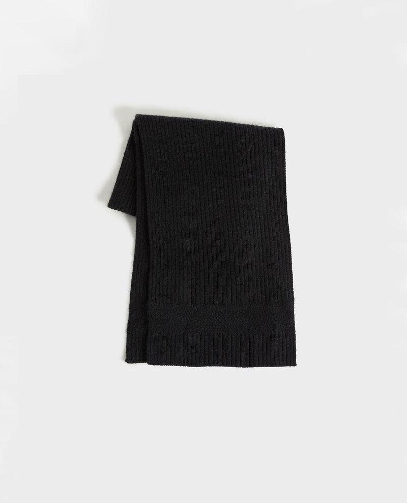 Schal aus Kaschmir Black beauty Miosa