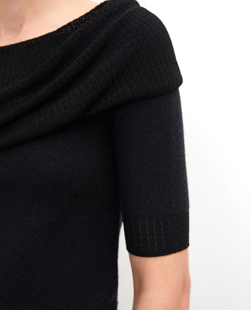 Whole Garment Pullover  Schwarz Giris