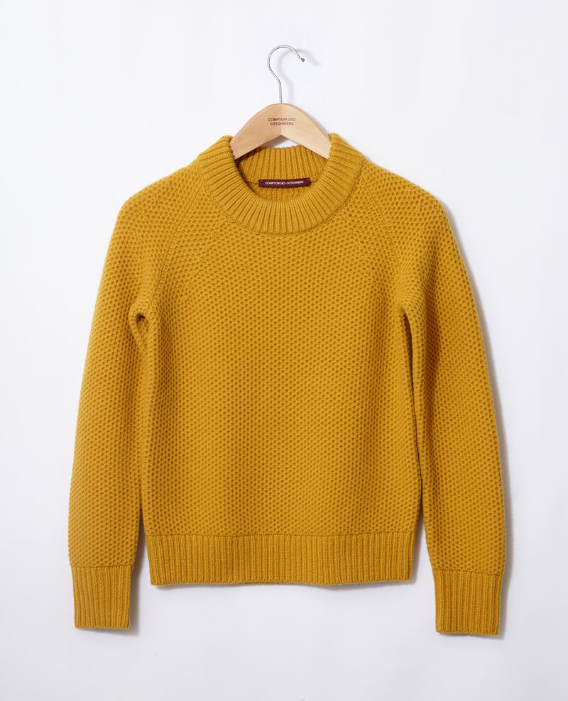 Pullover aus Wolle Golden spice Ginseng