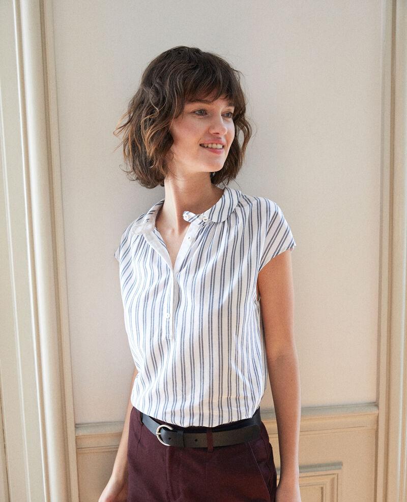 Bluse mit Rundhalsausschnitt Blau Garconne