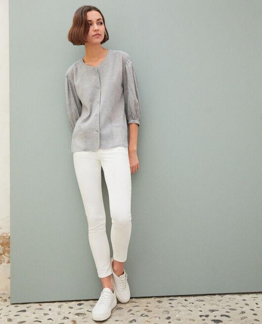 Skinny-Jeans mit 7/8-Länge BLANC