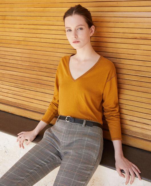 T-Shirt aus Baumwolle Gelb
