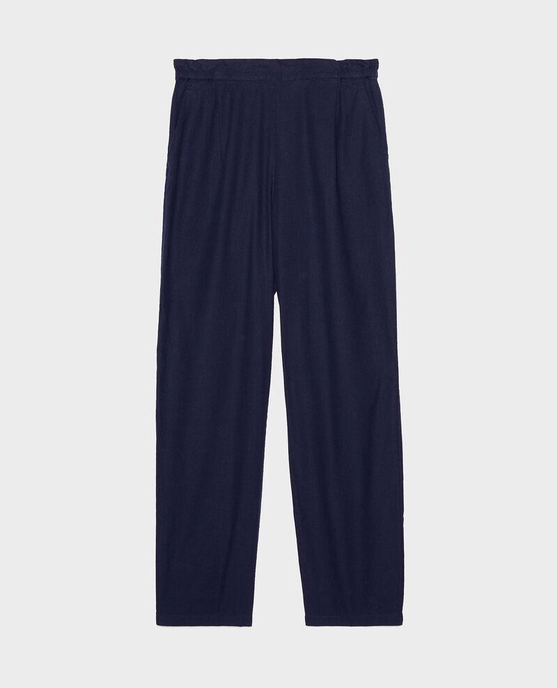 Hose mit Leinen und Baumwolle Maritime blue Loranki