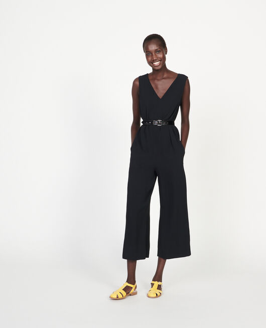 Jumpsuit aus Viskose BLACK BEAUTY