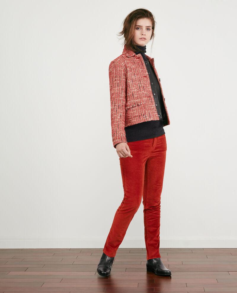 Tweed-Jacke Orange red Djimmy