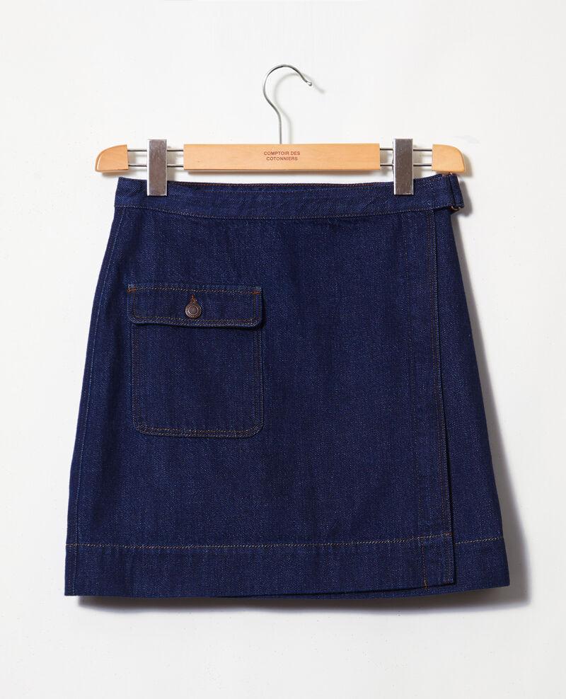 Wickelrock aus Jeans Rinse Iflari