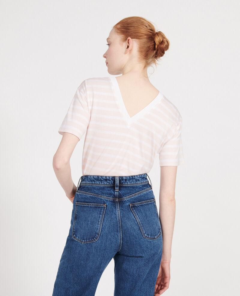 T-Shirt aus Baumwolle Stripes primrose pink optical white Lisou