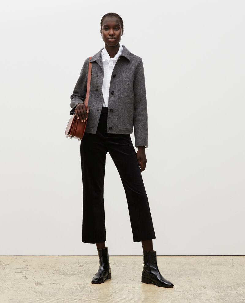 Jacke aus Doubleface-Wolle Medium grey melange Mauguio
