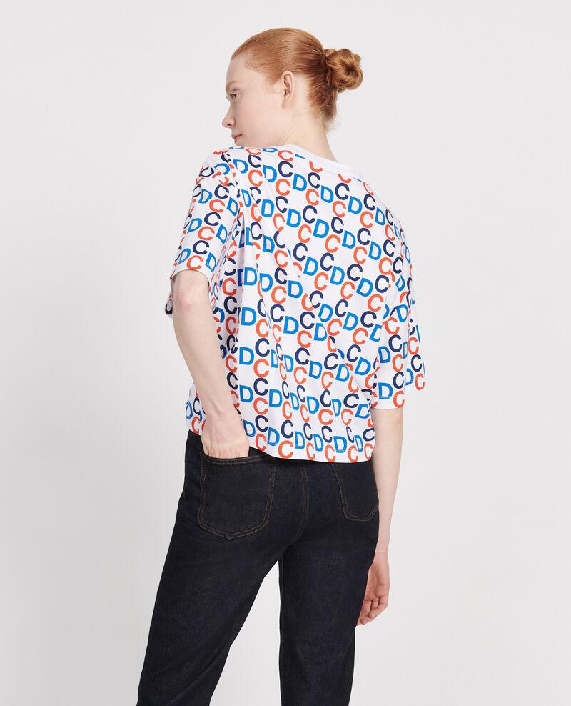 T-Shirt mit CDC-Print aus Baumwolle Optical white Lenoy