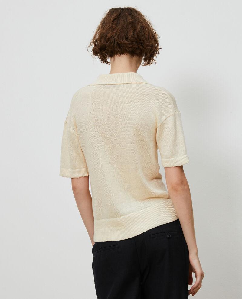 Leichtes Poloshirt aus Leinen Buttercream Novella
