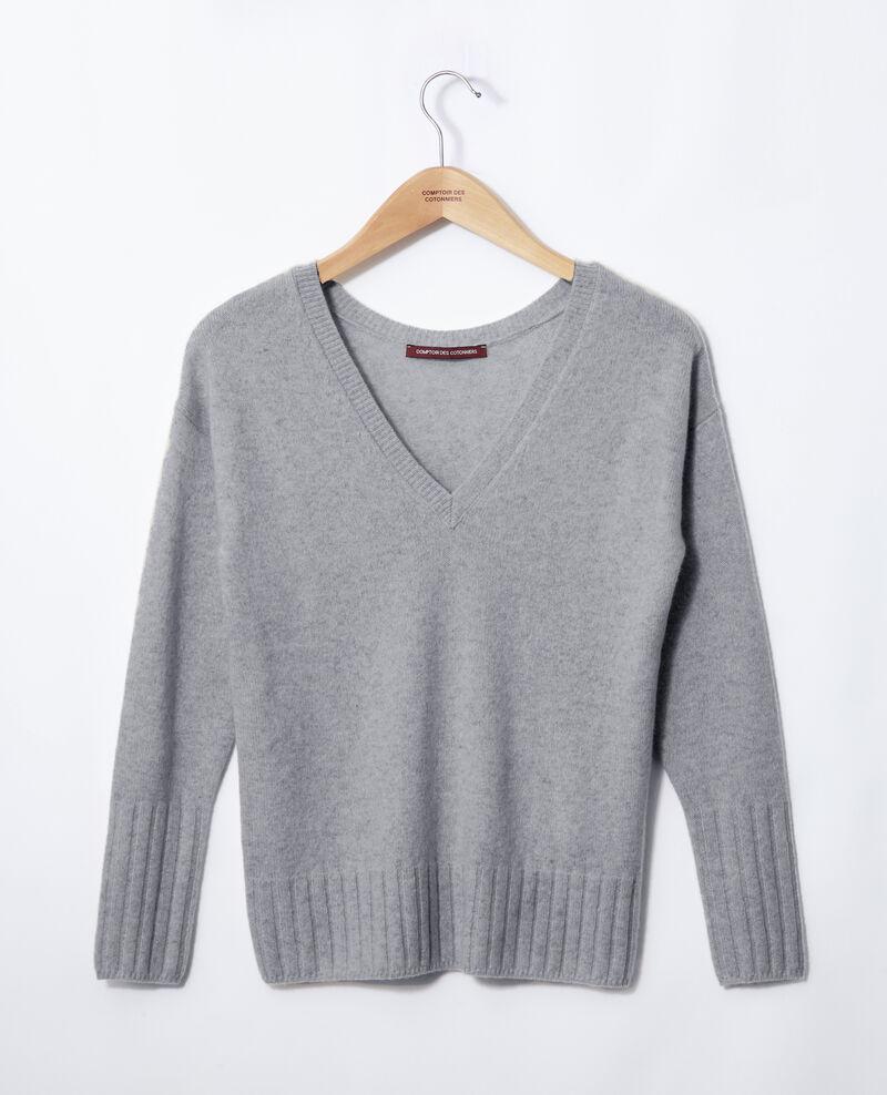 Pullover aus Kaschmir Grau Guerin