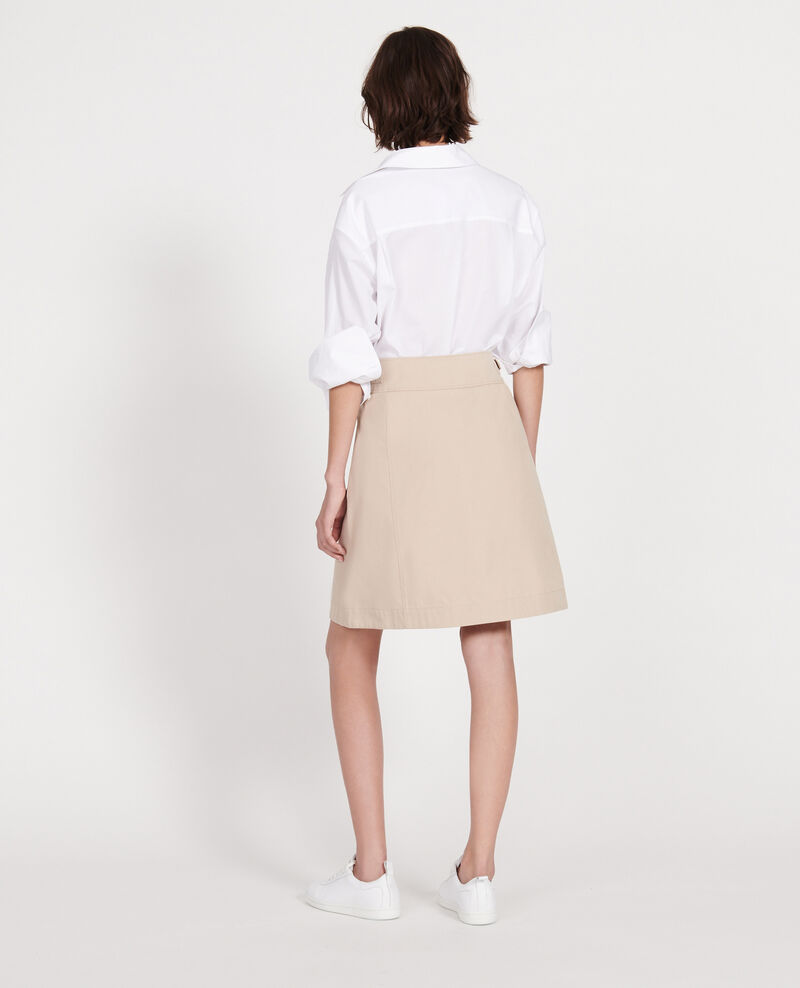 Wickelrock aus Baumwolle Oxford tan Lyrtille