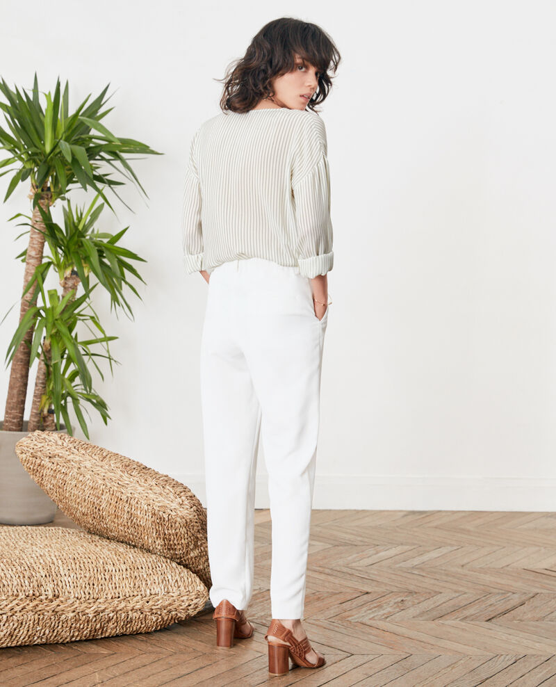 Hose aus Krepp Blanc Focarina