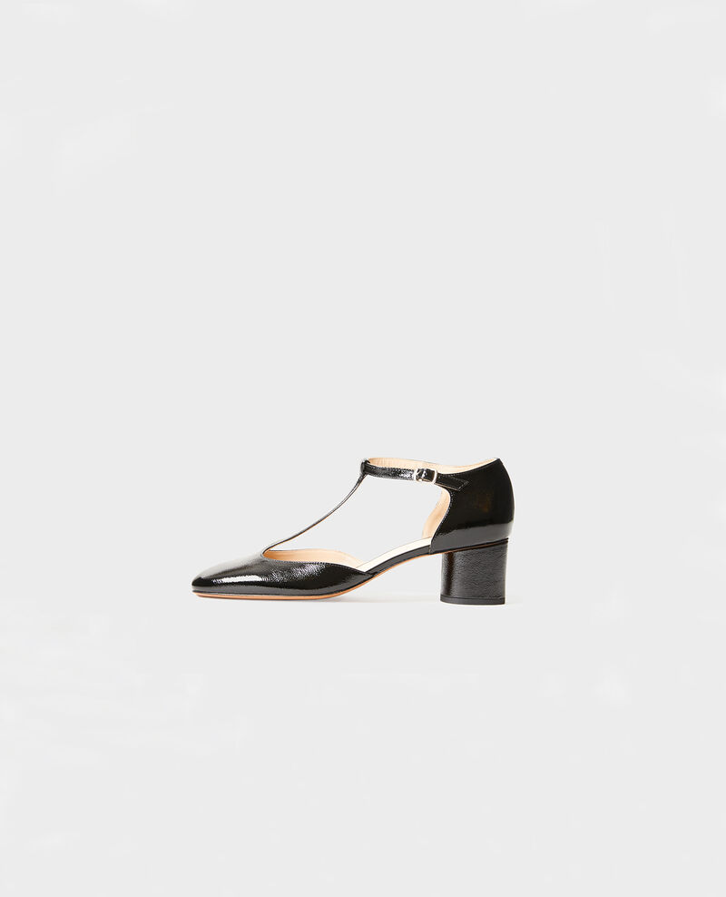 Salome-Schuhe aus Lackleder  Black beauty Megeve